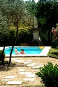 Poolside at Nini's house in Beziers