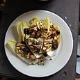 Blue cheese, grape, walnut and chicory salad