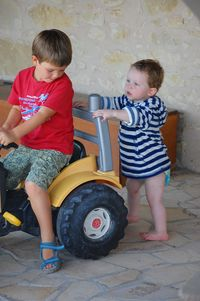 Colin, Max and the tractor