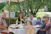 Niece Jane, Jonathan, Georgina, Jack giving us a great lunch during their visit.