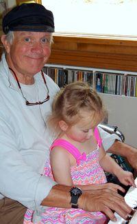 Skya, with Grandpops