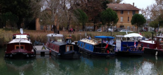 Our winter mooring at Montauban