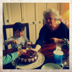 Max and Lucie at his birthday