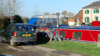 Our mooring at Hede- bazouges