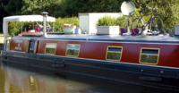 Newly painted starboard side