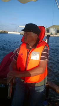 Life jackets needed as we cross the estuary