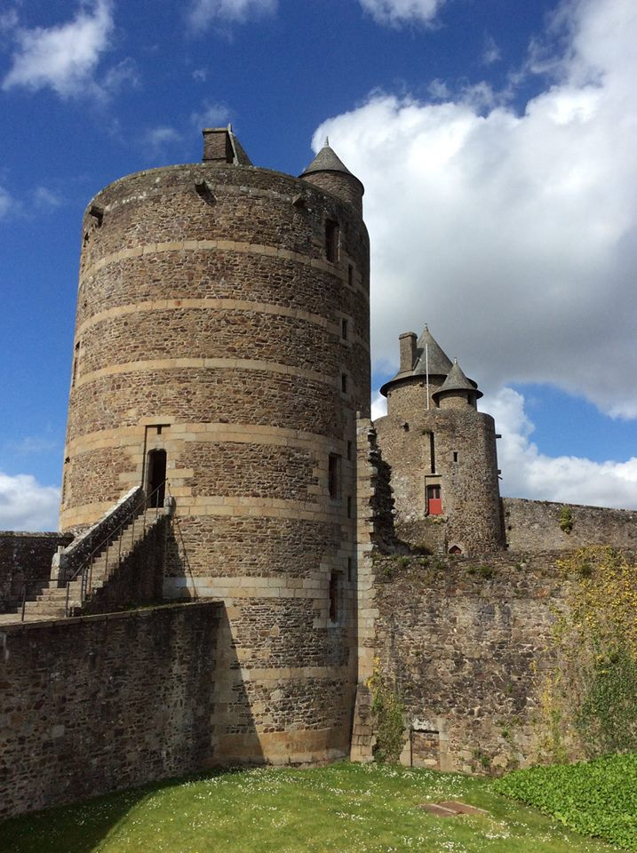 Part of the castle at Fougeres