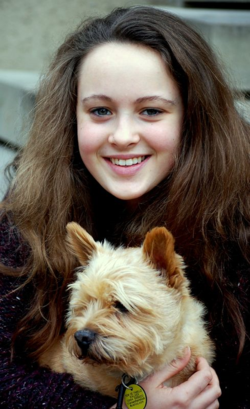 Emily with Teddy in Albi
