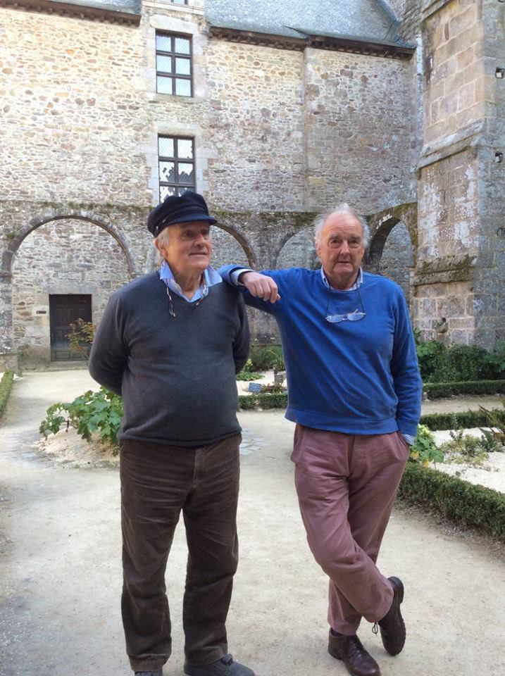 Me and Alan in Lehon Abbey Cloisters