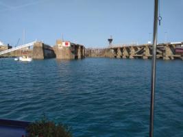 Approaching Port St. Malo Lock