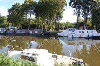 Our mooring at Evran behind the Admiral's Barge - Arc Royal - no less
