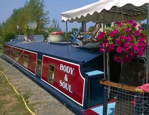 Body and Soul newly painted port-side at Hede